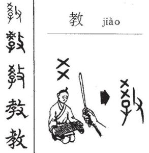 иероглиф преподавать 教 jiao4